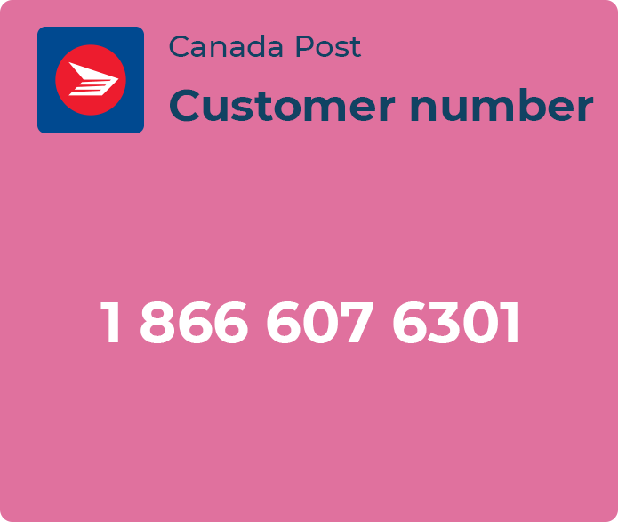 canada post customer number