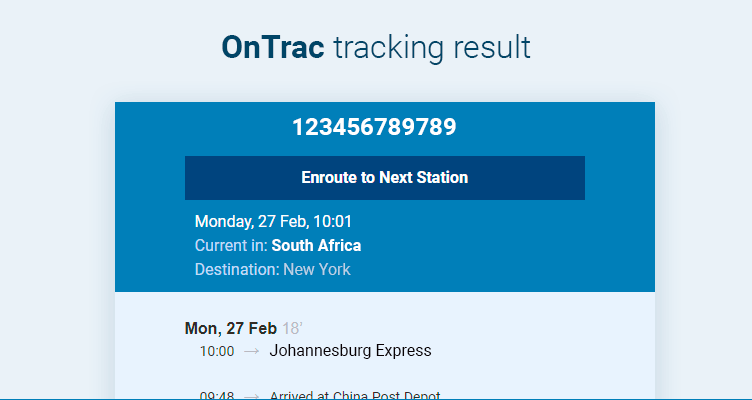 Ontrac Tracking | k2track