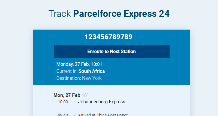 parcelforce 24 delivery times uk
