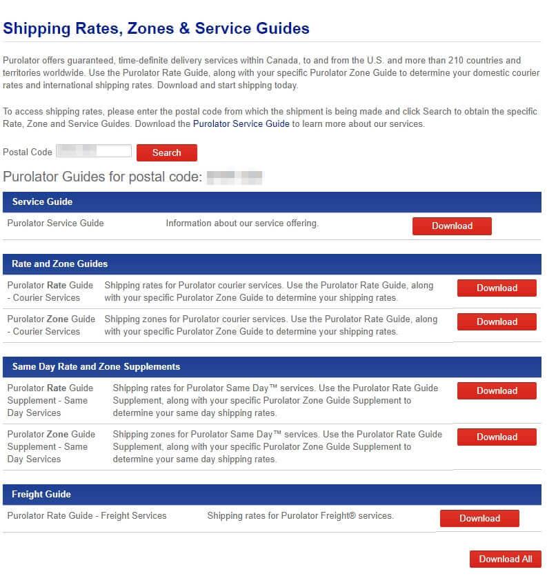 Purolator Shipping - Rates Estimate & Centre Locations   k2track