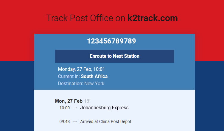 south african post office tracking number