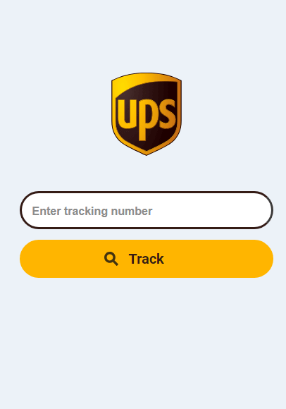 UPS track a package