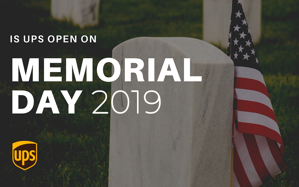 does ups deliver on memorial day 2019