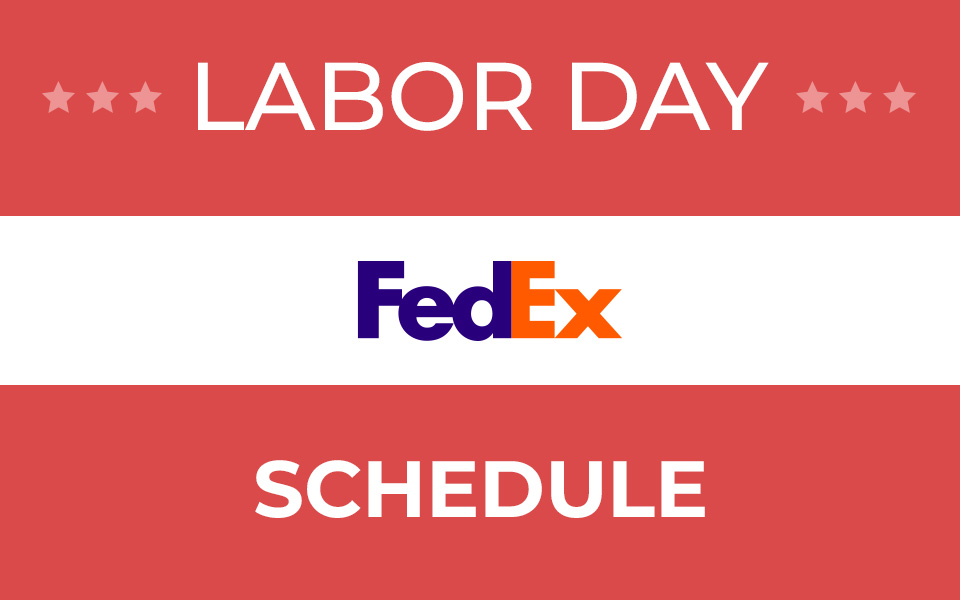 Does Fedex deliver on Labor Day 2019