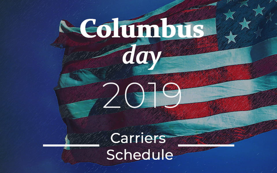 Is Mail delivered on Columbus Day 2019