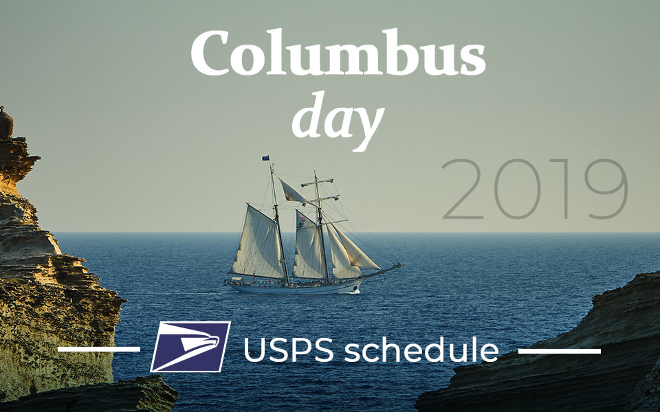 Is the Post Office closed for Columbus Day 2019