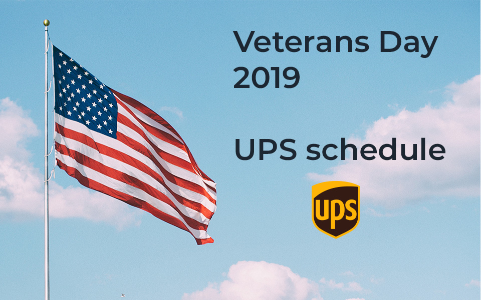 Does UPS deliver on Veterans Day 2019