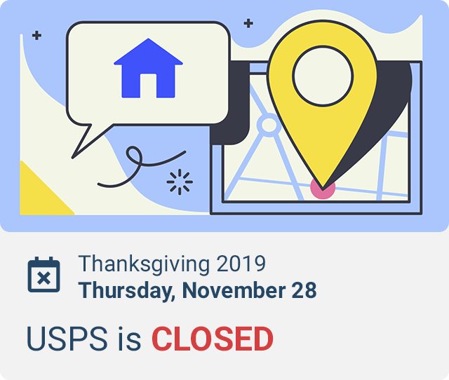 is usps open on thanksgiving 2019