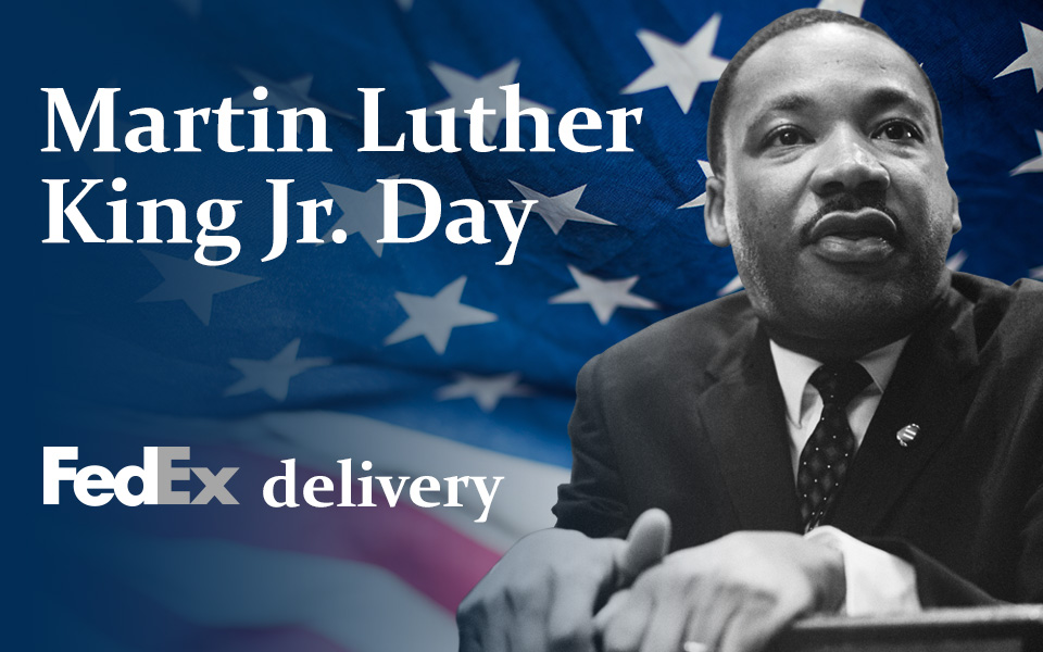 Does Fedex deliver on MLK day 2020