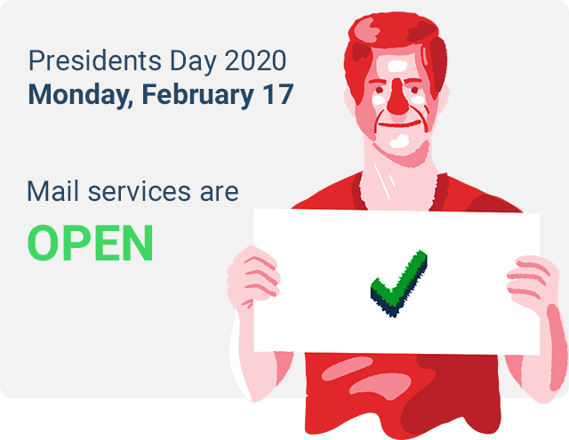 mail delivery on presidents day 2020