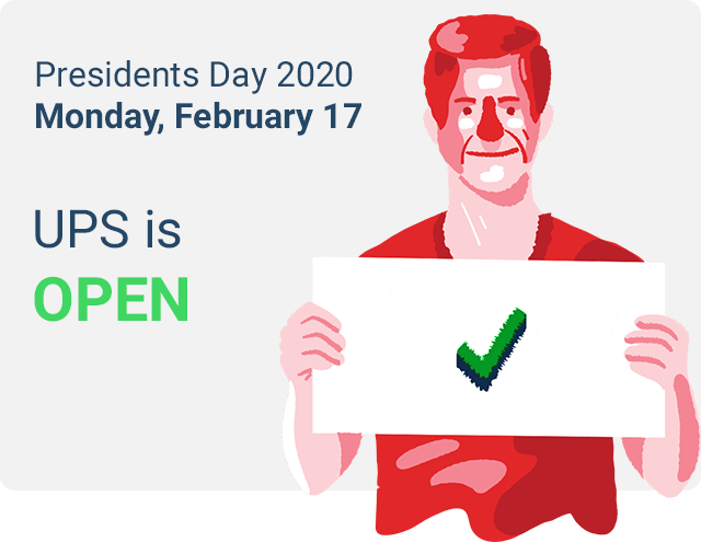 ups deliver on presidents day 2020