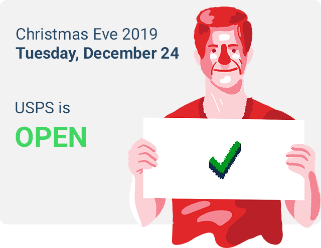 post office open christmas eve 2019