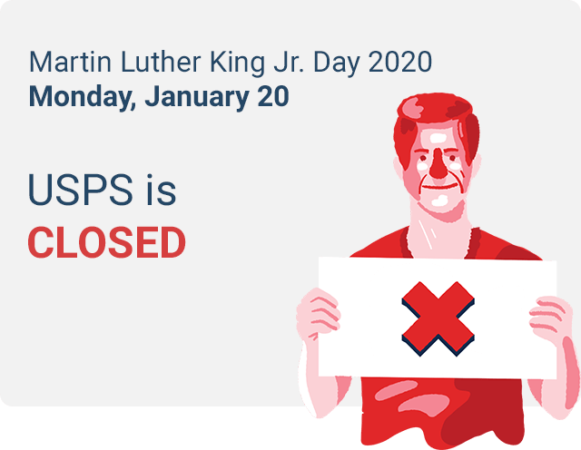 does usps deliver on mlk day 2020