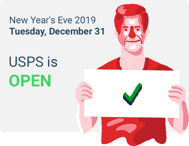 usps on new years eve 2019