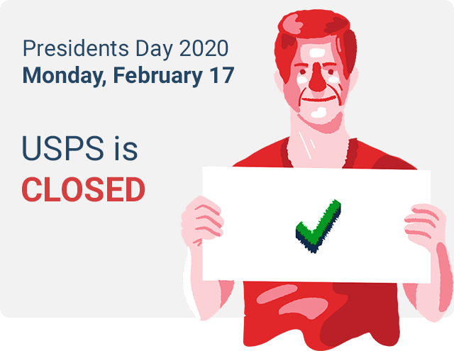 are post offices open on presidents day 2020