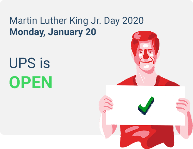 is ups closed on mlk day 2020
