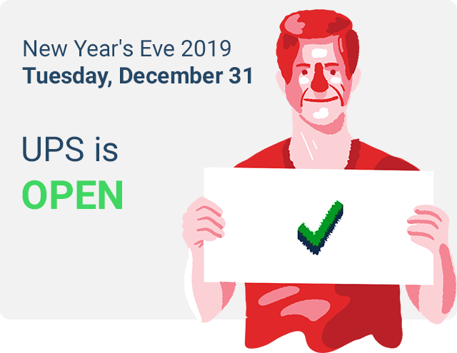 ups new years eve schedule 2019