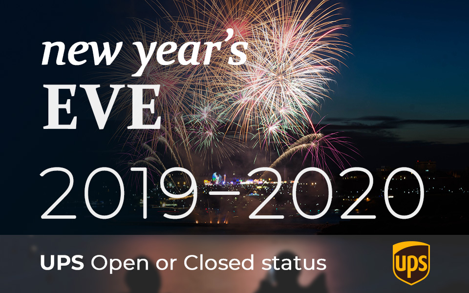 Is UPS open on New Years Eve 2019
